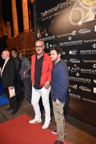 Beppe Manno (a sinistra) al Taormina Film Fest